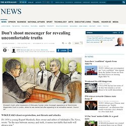 Assange The Oz - Don't shoot messenger