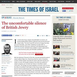 The uncomfortable silence of British Jewry