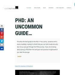 James Hayton's PhD advice website