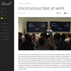 Unconscious bias at work