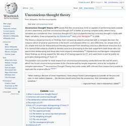 Unconscious thought theory