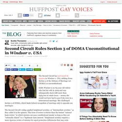 Second Circuit Rules Section 3 of DOMA Unconstitutional in <i>Windsor v. USA</i>