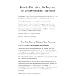 How to Find Your Life Purpose: An Unconventional Approach