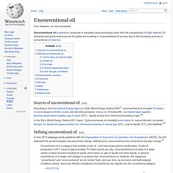 Unconventional oil - Wiki