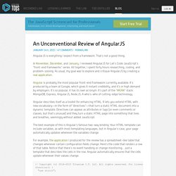 An Unconventional Review of AngularJS