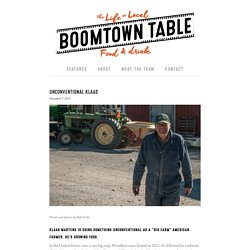Unconventional Klaas — BOOMTOWN TABLE