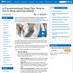 11 Unconventional Sleep Tips: How to Get to Sleep and Stay Asleep