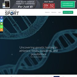 Uncovering Genetic Testing in Athletics