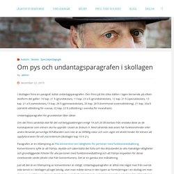 Om pys och undantagsparagrafen i skollagen – Bo Hejlskov Elvén