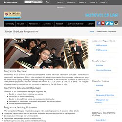 Under Graduate Programme