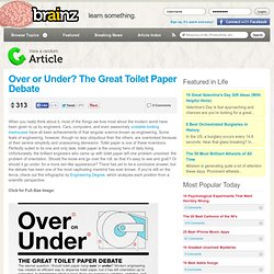 Over or Under? The Great Toilet Paper Debate