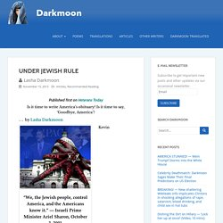 UNDER JEWISH RULE – Darkmoon