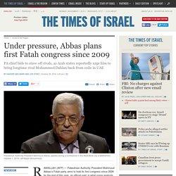 Under pressure, Abbas plans first Fatah congress since 2009