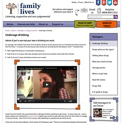 Underage drinking - Family Lives