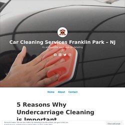5 Reasons Why Undercarriage Cleaning is Important – Car Cleaning Services Franklin Park – NJ