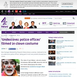 'Undercover police officer' filmed in clown costume - Channel4 News