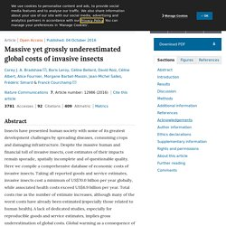 NATURE 04/10/16 Massive yet grossly underestimated global costs of invasive insects