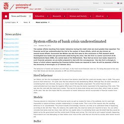 System effects of bank crisis underestimated