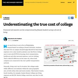 Underestimating the true cost of college