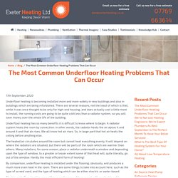 The Most Common Underfloor Heating Problems That Can Occur