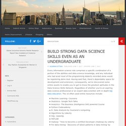 BUILD STRONG DATA SCIENCE SKILLS EVEN AS AN UNDERGRADUATE