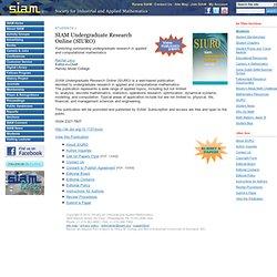 SIAM Undergraduate Research Online