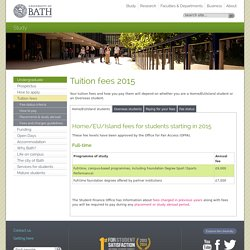 Tuition fees 2014