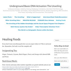 Healing Foods – Underground Bases DNA Activation The Unveiling