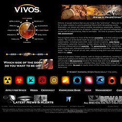 Vivos - The Underground Shelter Network for Long-Term Survival of Future Catastrophes