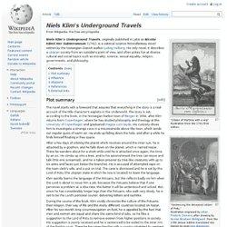 Niels Klim's Underground Travels