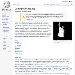 Underground hip hop