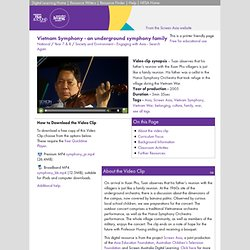 Vietnam Symphony - an underground symphony family - Society and Environment, Engaging with Asia