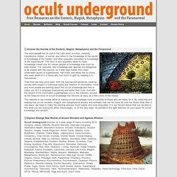 Occult Underground - Portal to Esoteric Knowledge