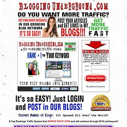 Blogging Underground Targeted Traffic System for Web Publishers