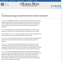 6 underground apps students hide from schools