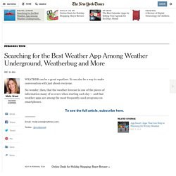 Searching for the Best Weather App Among Weather Underground, Weatherbug and More