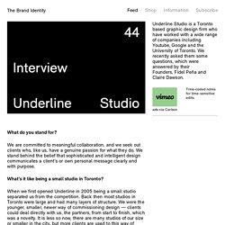 Underline Studio — The Brand Identity