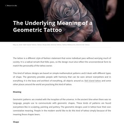 The Underlying Meaning of a Geometric Tattoo