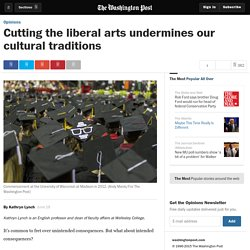 Cutting the liberal arts undermines our cultural traditions