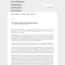 The Most Underrated Iphone Game - AIS Offshore, Gaming & Dedicated Developer