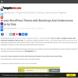 Create Wordpress Theme with Bootstrap And Underscores Step by Step