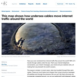 This map shows how undersea cables move internet traffic around the world