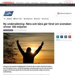 Ny undersökning: Nära och kära går först om svensken vinner 100... - AB Trav och Galopp, ATG