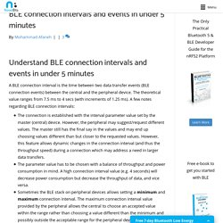 Understand BLE connection intervals and events in 5 minutes