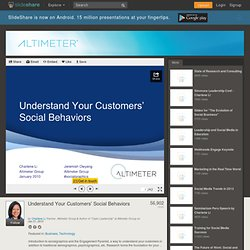 Understand Your Customers' Social Behaviors