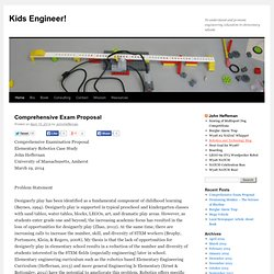 Kids Engineer! | To understand and promote engineering education in elementary schools.