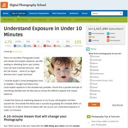 Understand Exposure in Under 10 Minutes