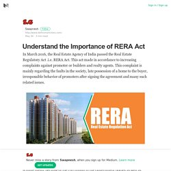 Understand the Importance of RERA Act