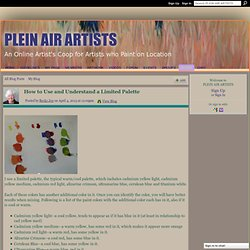 How to Use and Understand a Limited Palette - PLEIN AIR ARTISTS