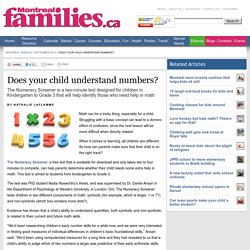 Does your child understand numbers? - Montreal Families - September 2014 - Montreal